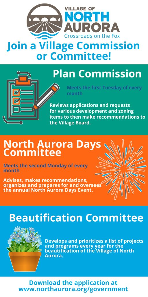 Infographic for commissions and committees
